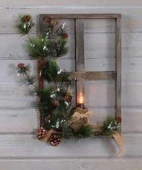 Mit einem alten Fenster macht man die schönste brokatene Winterverzierung… 10 rustikale Inspirationsvorbilder!! - DIY Bastelideen