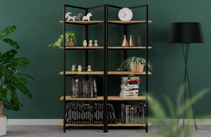 industrial bookshelf BONITO Black