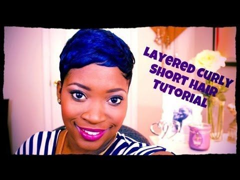 [LHHATL Ariane Davis Inspired] Layered Curly Short Hair Tutorial - YouTube