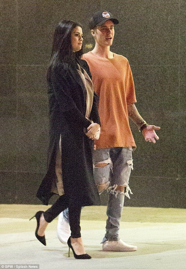 History repeating: Justin appeared to be talking nonstop and the pair looked as though their past breakups were a very distant memory