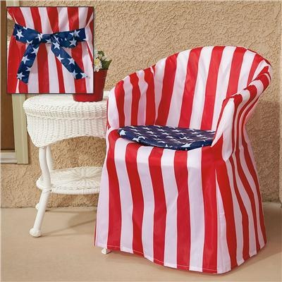 Patriotic Chair Cover Set From Lillian Vernon Fourth Of