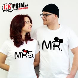 Set Tricouri Personalizate, Mr. & Mrs. Mouse