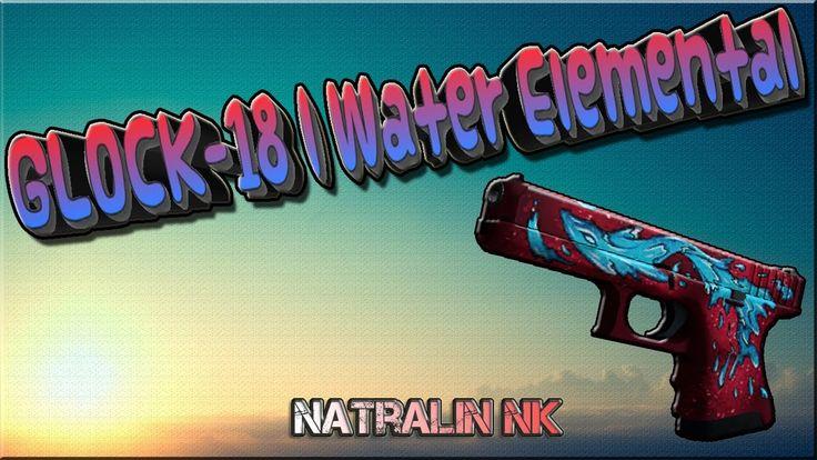 "CS:GO-TOP 5-Sticker Combinations: ""GLOCK-18""   Water Elemental (Дух воды)"