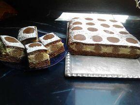 Üdvözletem minden kedves sütiimádónak! Ma érkező vendégeink tiszteletére gesztenyés pöttyös sütit készítettem, remélem ízleni fog mindenkinek! Hozzávalók kakaós piskóta egy közepes 26 x 36 cm tepsihez: 6 db tojás 12 dkg porcukor 10 dkg liszt 2 ek cukrozatlan kakaópor 1 cs sütőpor A gesztenyés rudakhoz: 25 dkg darált keksz 25 dkg gesztenyemassza 4 ek sárgabaracklekvár …