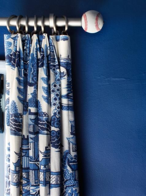 10 Creative Ways To Use Household Items As Curtain Hardware Baseball