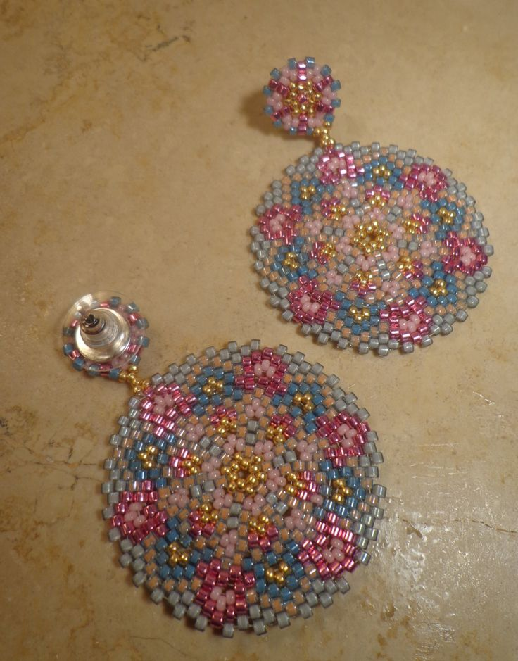 Tutorial earrings Fantasy Technical circular por PatriziaBijoux