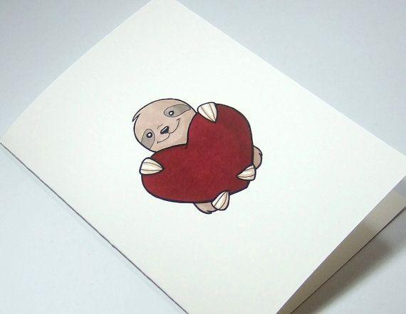 Illustrazione di bradipo carino stampare carta di AwesomeStation