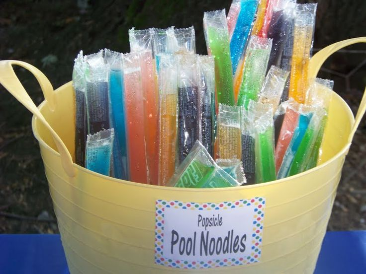 kids pool party food - ice pops
