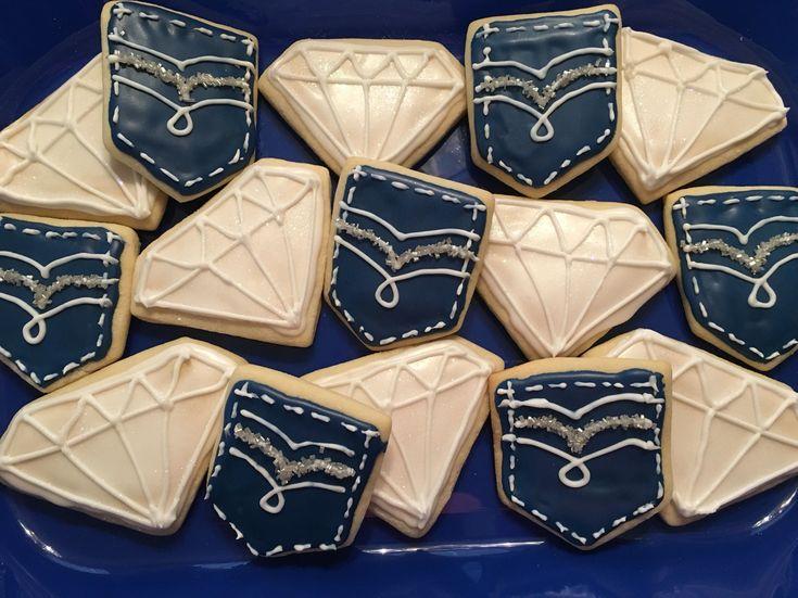 Denim and diamonds cookies