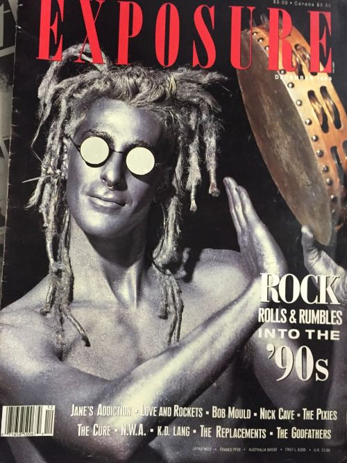Perry Farrel from Jane's Addiction on the cover of Exposure, 1989