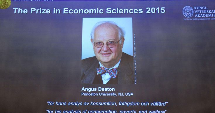 """Princeton's Angus Deaton wins Nobel economics prize. Angus Deaton won the Nobel memorial prize in economic sciences for """"his analysis of consumption, poverty, and welfare"""". Deaton, 69, won the 8 million Swedish kronor (about $975,000) prize from the Royal Swedish Academy of Sciences for work that the award committee said has had """"immense importance for human welfare, not least in poor countries."""""""