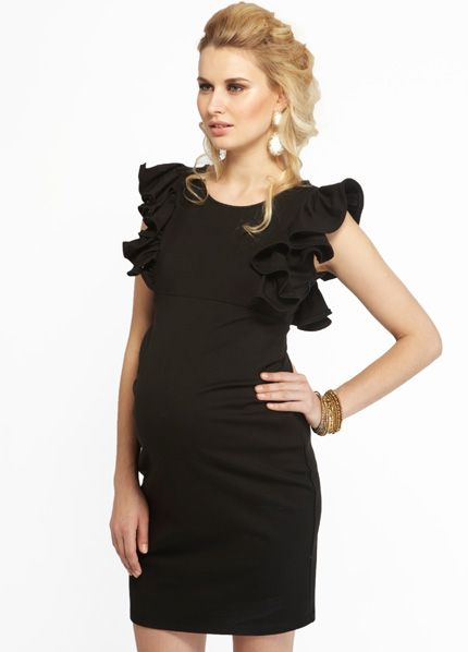 How hot is this dress?!    More of Me - Eloise LBMD - Designer Maternity Dresses - Queen Bee Maternity Clothes Online