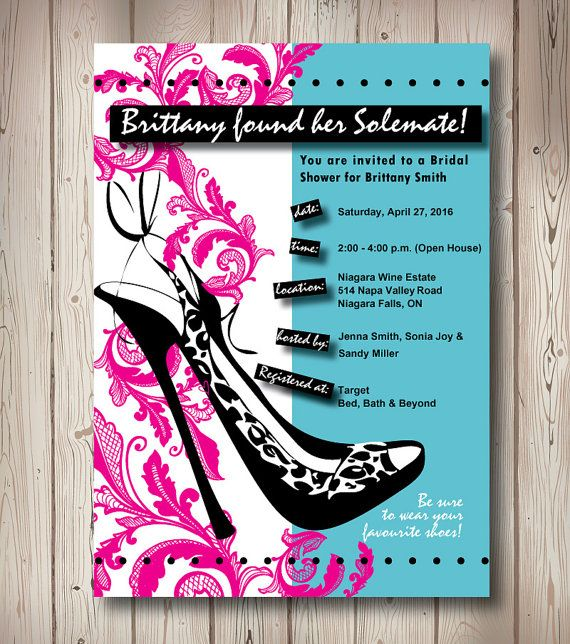 solemate bridal shower shoe themed by pinklittlenotebook on etsy 1500 party ideas pinterest bridal shower bridal and gifts