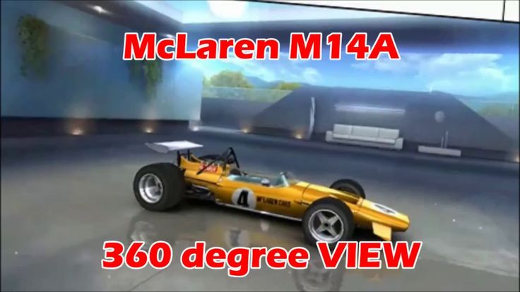 Asphalt 8 airborne McLaren M14A 360 degree VIEW from winter update champ...