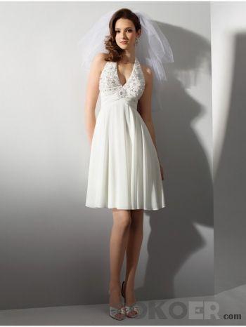 Korta-Brudklänningar-grimman-spänns-korta-bröllopsklänningar-med-v-halsen