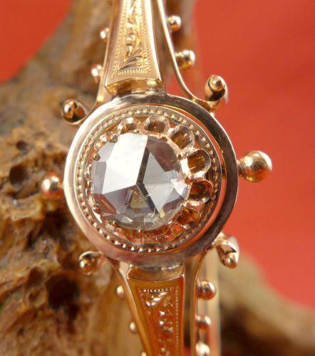 Original Biedermeier Diamant Armreif in 585 Rosegold   eBay