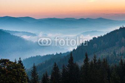 Fotobehang autumn, mountain, fall - de berg herfst landschap ✓ Makkelijke montage ✓ 100% ecologisch afgedrukt ✓ Bekijk de opinies van onze klanten!