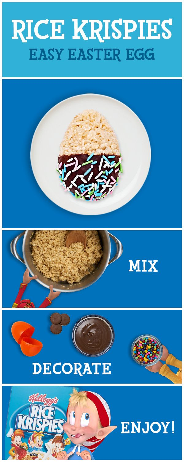 Easter treats can be fun and simple. Rice Krispies Treats can be made in just three simple steps with three simple ingredients. It's fun for the whole family because everyone can craft their very own creation with decorations. It's so easy, you'll want to make them all spring long!