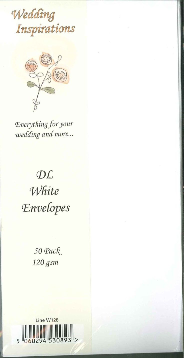 Wedding Inspirations Pack Of 50 Dl Sized White And Ivory Envelopes At 120 Gsm