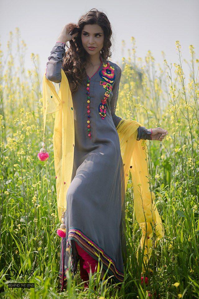 Fashion Photos: Meena Kumari Party Wear Dresses by Naveed Ranjha 2013
