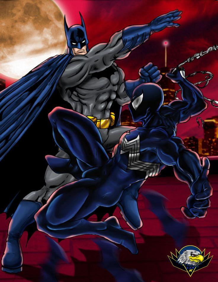 Batman Vs Spiderman by CarbertArtwork