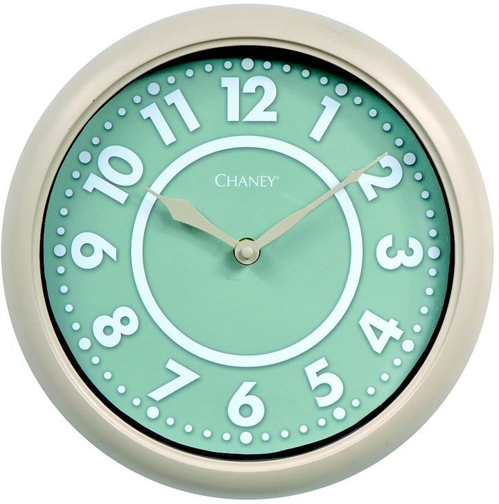 Chaney 10-in. modern sage wall clock