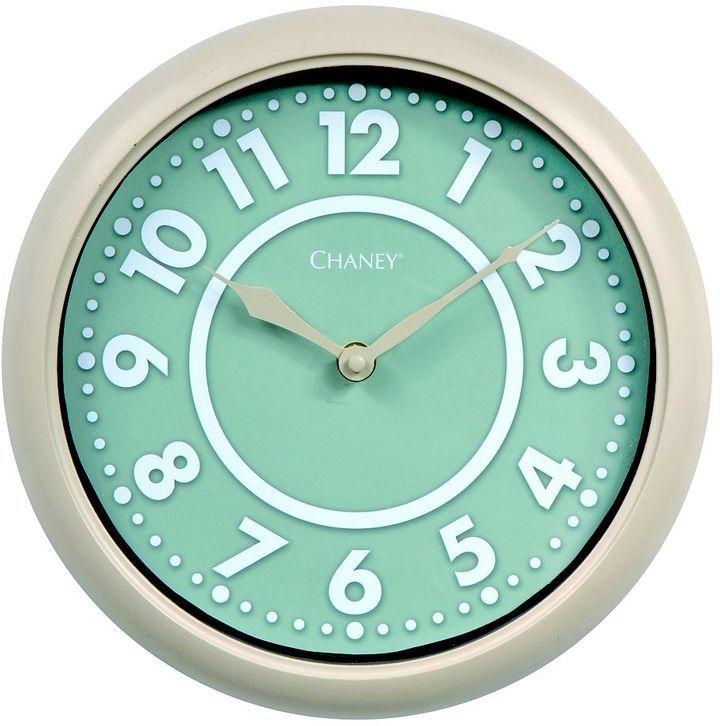 Chaney 10-in. modern sage wall clock