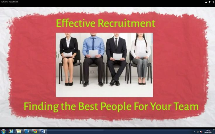 Effective Recruitment  Find the best people to join your team.  http://www.brightonsbm.com/news/?p=5157&preview=true
