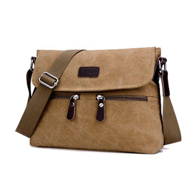 Men Canvas Messenger Laptop Bag Shoulder...