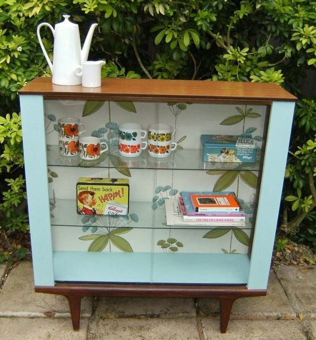 Cool retro up-cycled display cabinet