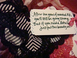 lingerie party gift - panty poems