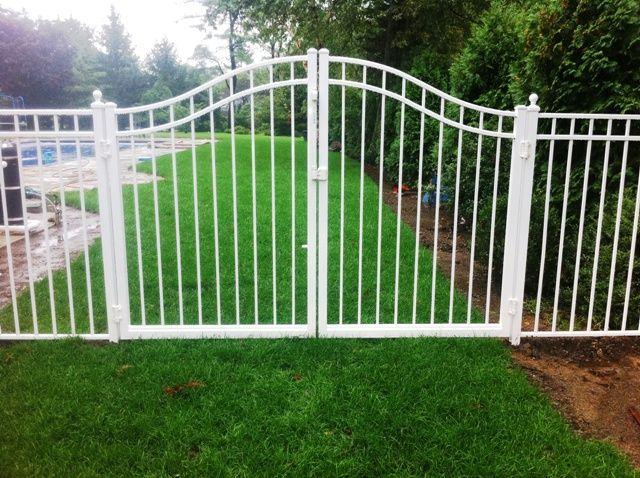 White wrought iron gate fence pinterest