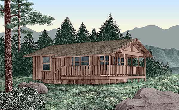 Elevation of Country   House Plan 45394  This one is Perfect....minus the side porch