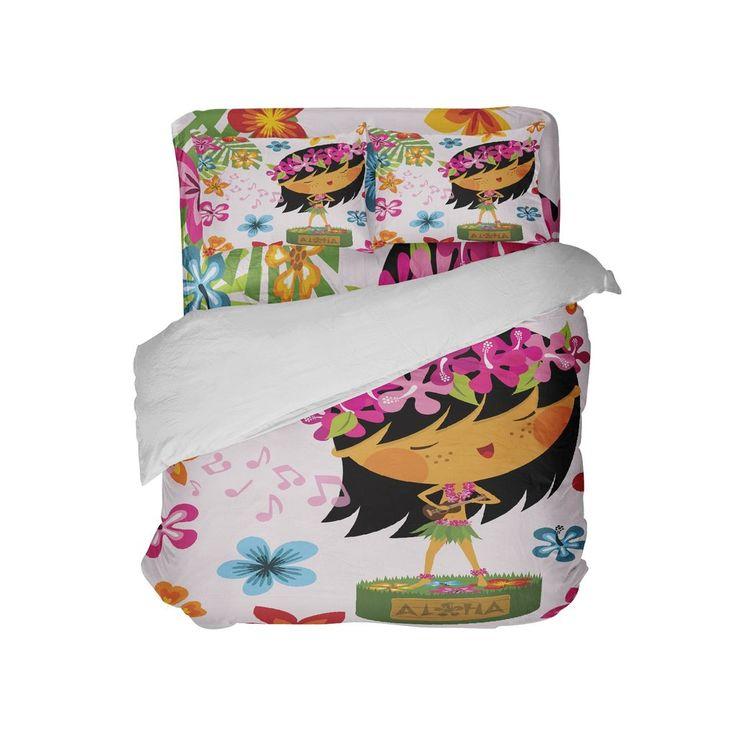 Hawaiian Hula Girl Comforter Set from Kids Bedding Company