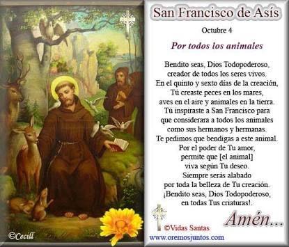 Resultado de imagen para oracion plegaria por la paz de san francisco de asis