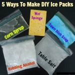 Learn how to make easy and cheap homemade ice packs using common household ingredients.