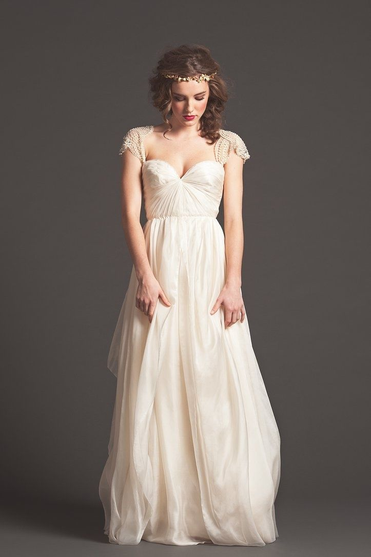 Vintage Wedding Dresses - Sortrature - slightly wider sleaves so I can wear a normal bra and tea length please :)