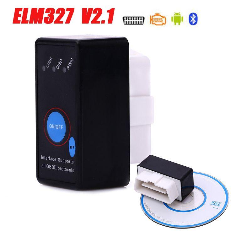 Nuevo MINI Interruptor de Alimentación ELM327 Bluetooth DEL OLMO 327 OBD2/herramienta de la exploración de OBDII para Android Torque Car Del Lector de envío gratis