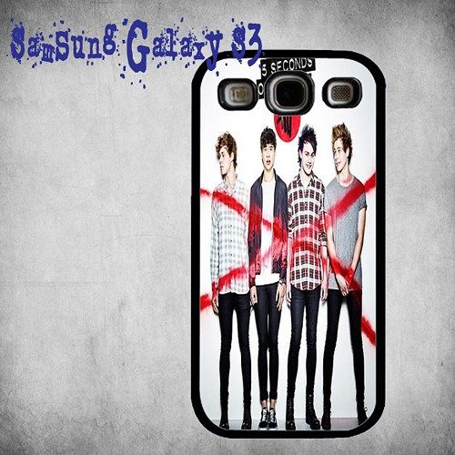 5 Seconds of Summer Print On Hard Plastic Samsung Galaxy S3, Black Case