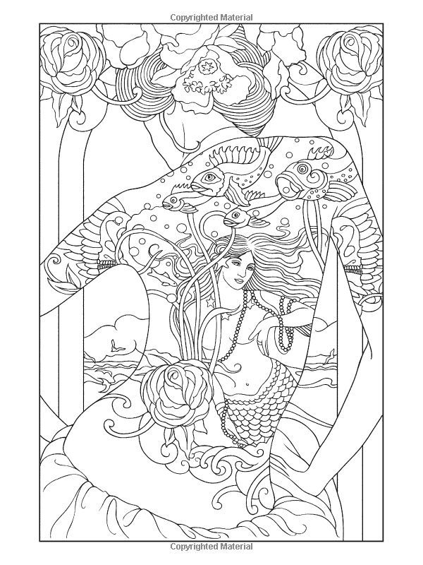 line art coloring pages - The Tattoo Coloring Book