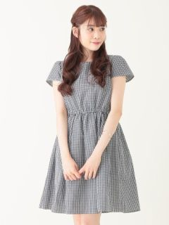 earth music & ecology (earth music and ecology) mail order | gingham cap sleeve dress