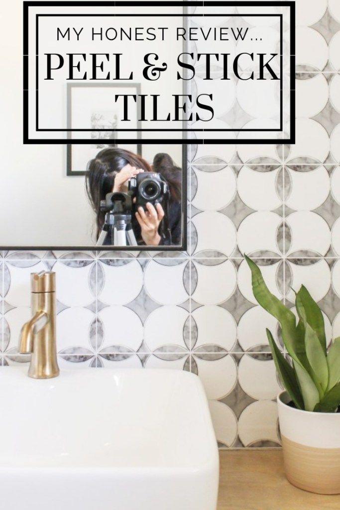 An Honest Review Of My Peel And Stick Tiles One Year Later Stick On Tiles Peel And Stick Tile Stick Tile Backsplash