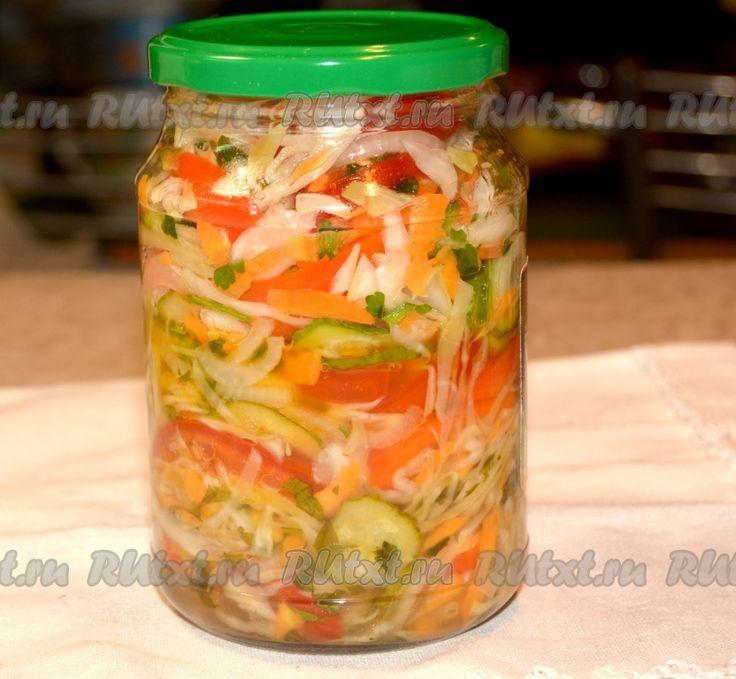 Рецепт овощного салата на зиму - рецепт с фото