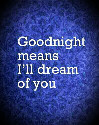 Good night baby....