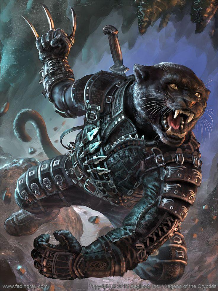 Artist: Lukasz Jaskolski aka fadingray - Title: dark soldier adv - Card: Stealth Panther Warmonger (Covert)