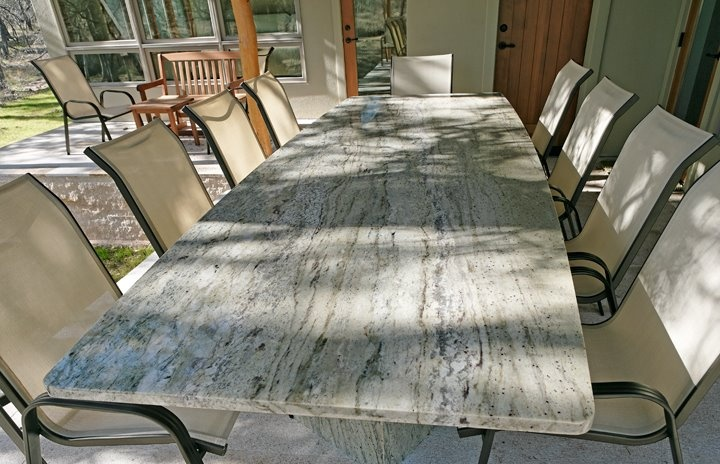 Beautiful #granite Outdoor Dining Table By AGM | AGu0026M Outdoor Areas |  Pinterest | Granite, Outdoor Dining And Outdoor Areas