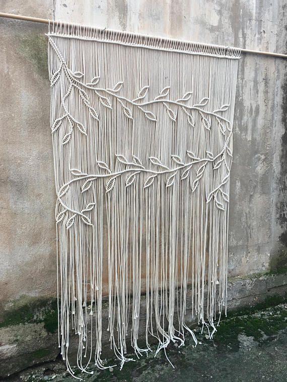Macrame curtain, bridal shower decor, wedding back drop, boho decorations
