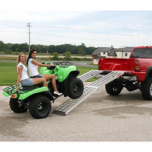 "Amazon.com: 120"" Big Boy II Folding Aluminum Motorcycle, ATV, UTV, Lawn & Garden Loading Ramp: Rage Powersports: Automotive"