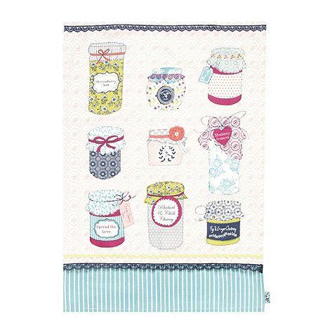 Ashley Thomas at Home Pink jams tea towel- at Debenhams.com