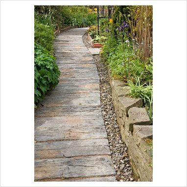 concrete sleepers....: Gardens Ideas, Gardens Lawn, Real Stones, Sleeper Paths, Gardens Paths, Children, Concrete Sleeper, Railway Sleeper, Concrete Pathways